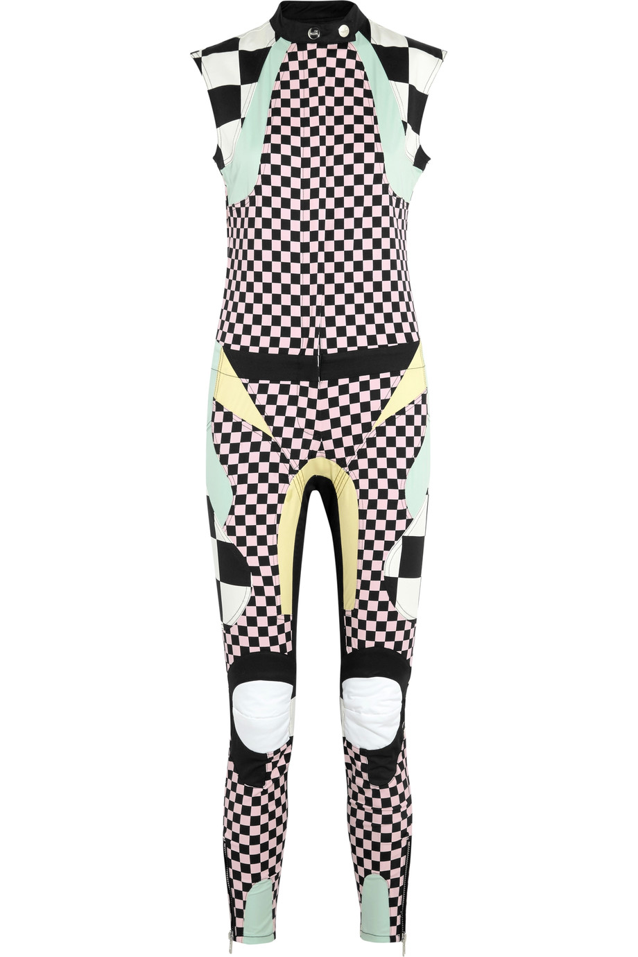 Paneled printed cotton-blend jumpsuit | Love Moschino | UK | THE OUTNET