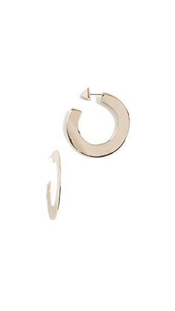 Alexis Bittar metal earrings hoop earrings gold jewels