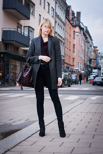 chaloth blogger bag blazer black jeans jacket top jeans shoes