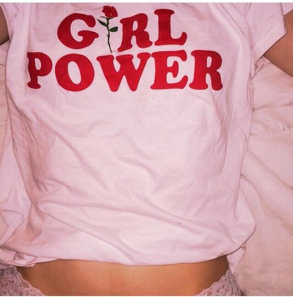 shirt grunge pale soft ghetto pale grunge soft grunge feminist pink t-shirt t-shirt pink girl power feminism girl power tumblr rose flowers top