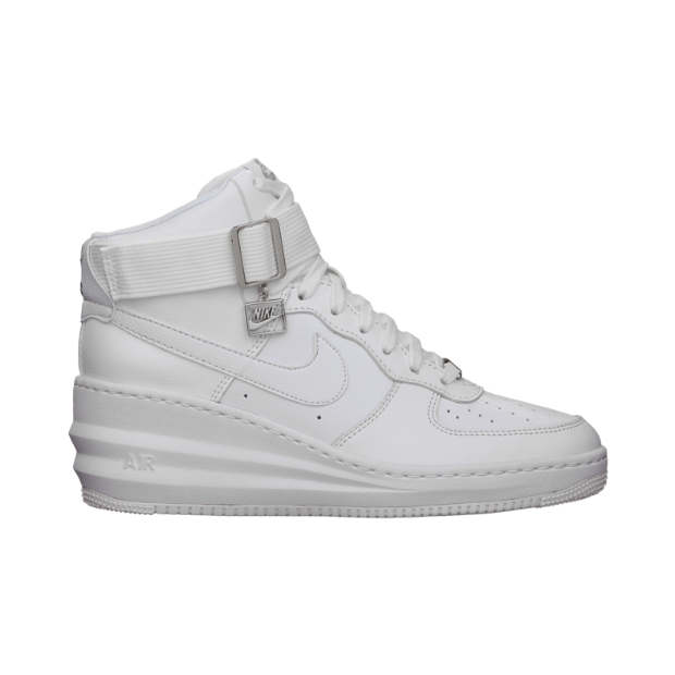 The Nike Lunar Force 1 Sky Hi Women's Shoe.