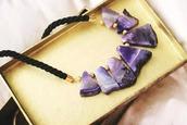 jewels,necklace,purple,violett,black