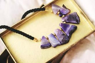 jewels necklace purple violett black