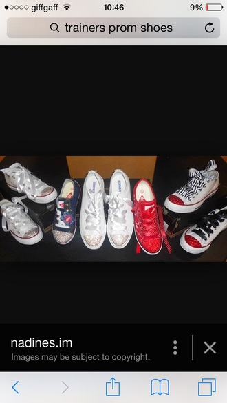 shoes red silver trainers shiny glittery sparkle prom