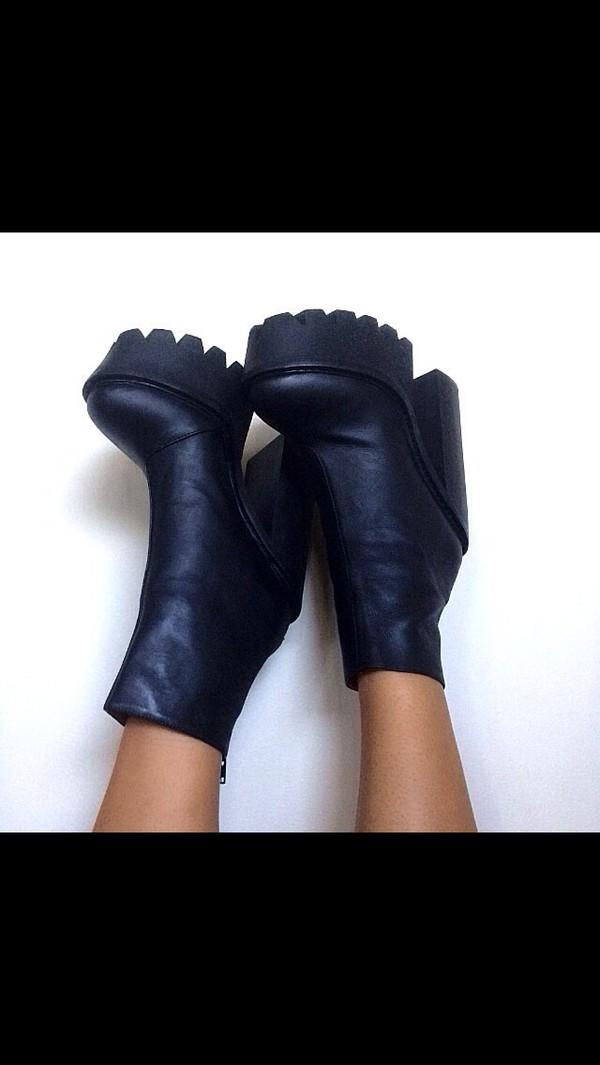 shoes boots platform shoes