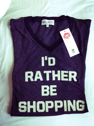 shirt cute funny shopping t-shirt wildfox