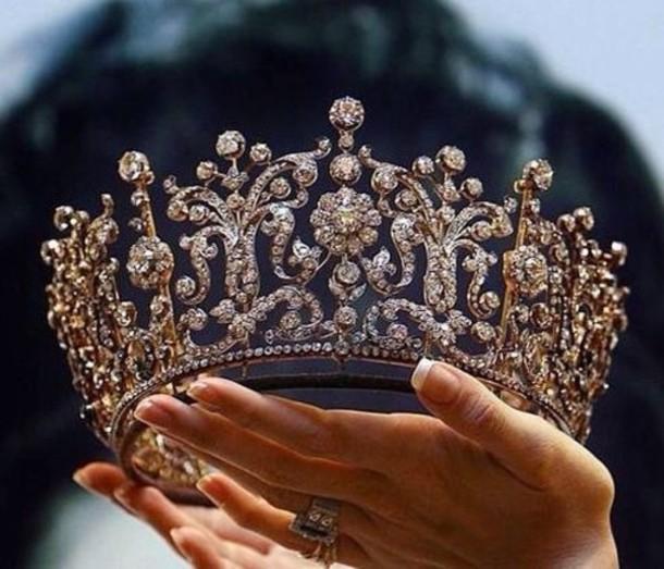 jewels crown princess queen diamonds tiara hair accessory gold disney princess dope silver jewelry