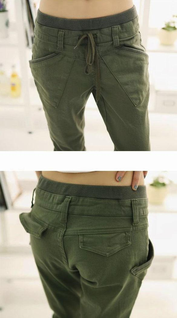 Pure Color Pants Long Loose Small Leg Opening Trouser