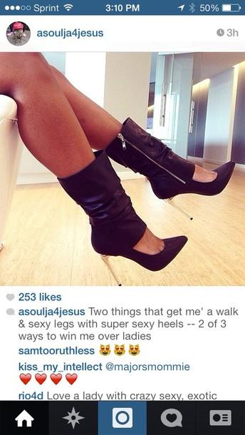 shoes heels pumps black