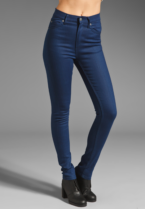 ba8877e91643 CHEAP MONDAY Second Skin Jeans in Poly Indigo Blue at Revolve Clothing -  Free Shipping!