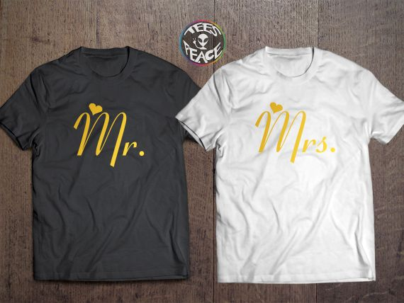 Mr and Mrs matching shirts – TEES2PEACE