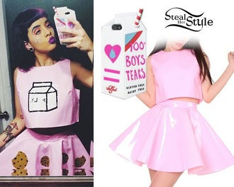 dress melanie martinez milk phone cover outfit skirt top