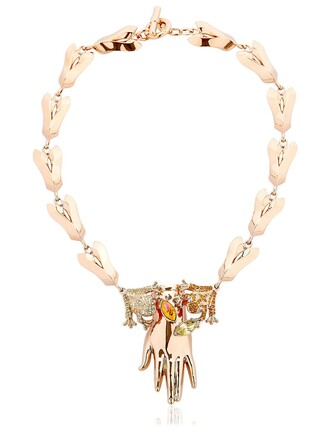 necklace orange jewels