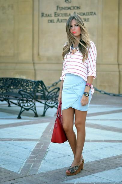 mi aventura con la moda skirt shoes bag t-shirt jewels
