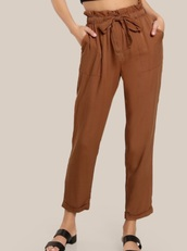 pants,girly,brown,high waisted