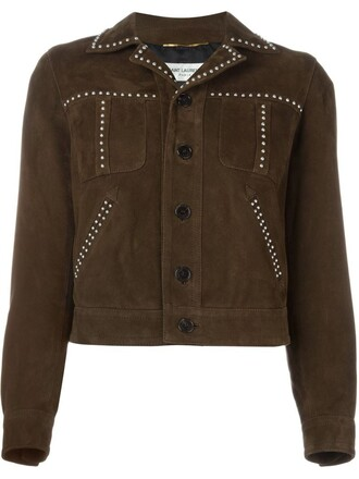 jacket studded brown
