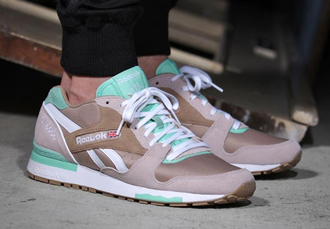 shoes reebok classic mint grey white