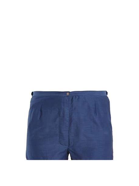 THIERRY COLSON shorts cotton silk navy