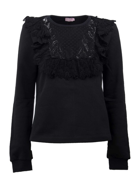 Giamba blouse embroidered lace black top