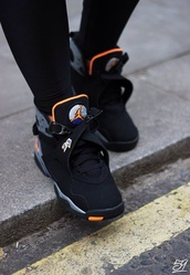 shoes,air jordan,airjordan,jordans,spiked bra,nike air jordan 3 retro infrared 23,jordan 8,23,black,orange,grey