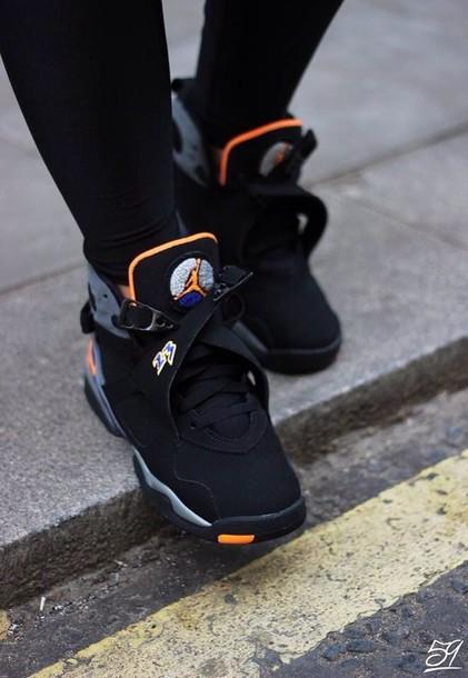 jordan 8 black and orange