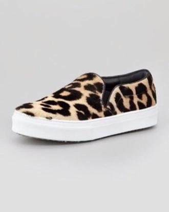 shoes horse hair leopard print