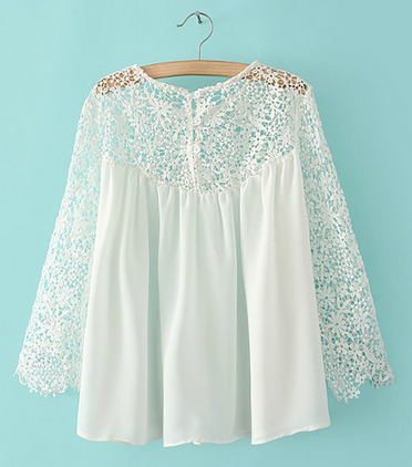 White Lace Emboriey Gorgeous Shirts