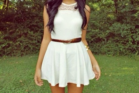 dress white white dress cute dress summer outfits lace top dress summer dress