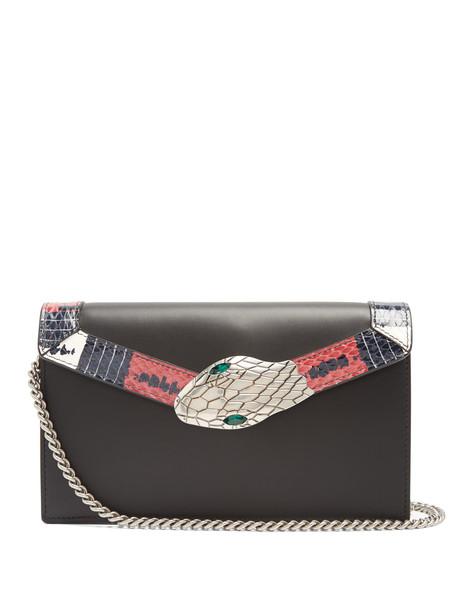 gucci mini bag shoulder bag leather black
