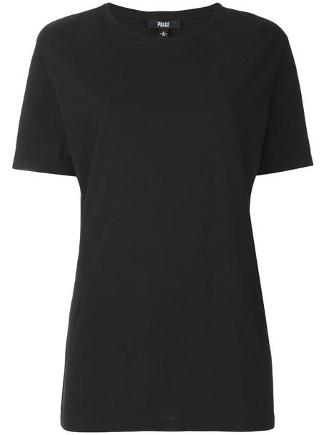 Paige - long classic T-shirt - women - Cotton - XXL, Black, Cotton