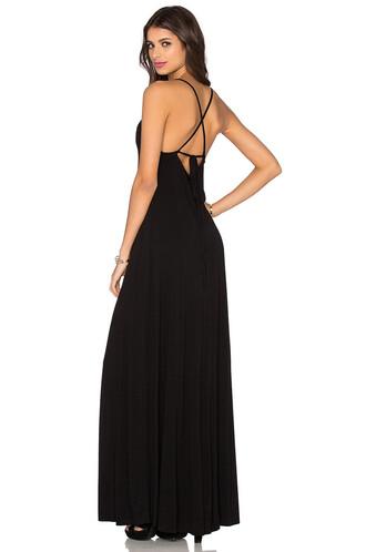 dress maxi dress maxi back black