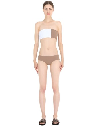 bikini white black beige swimwear