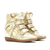 Authentic Isabel Marant Bird Metallic Wedge Sneakers In Gold [IM109027]