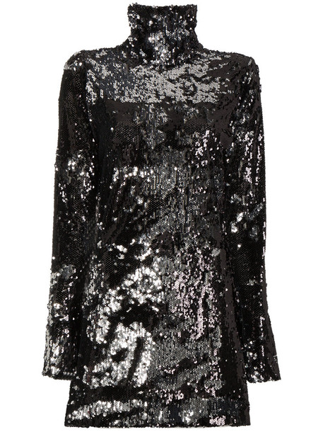 HALPERN dress mini dress mini high women high neck black