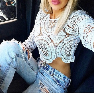 top white top lace top lace crop top white crop tops lace dress blouse white cropped elegant