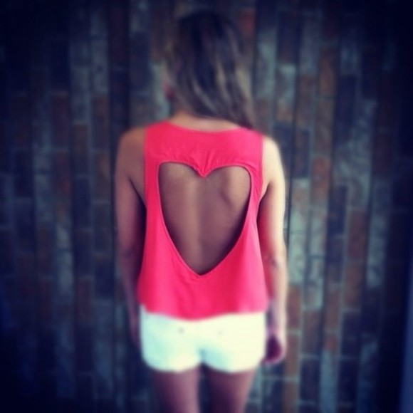 cut-out shirt heart pink