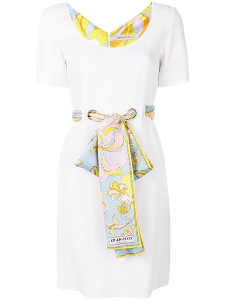 Emilio Pucci dress women spandex white silk