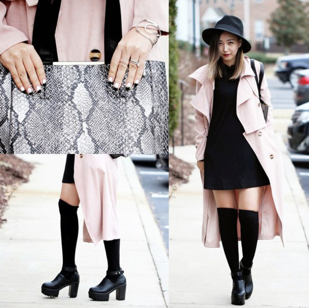 Long dress coat and hat - I love Long dress