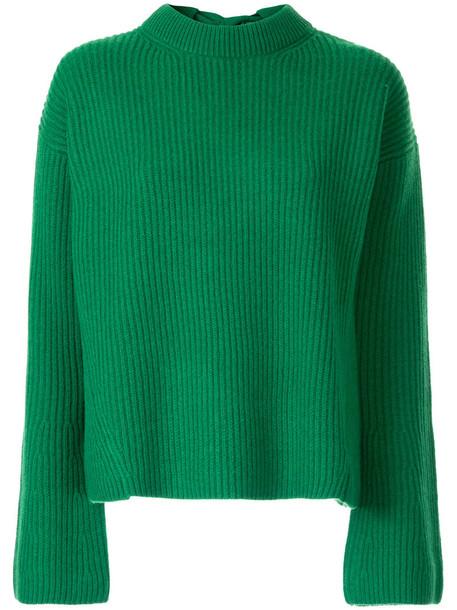 Le Ciel Bleu jumper bow back women wool green sweater