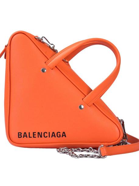 Balenciaga Xs Triangle Shoulder Bag in noir / orange