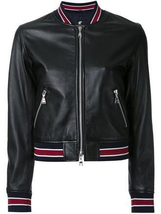 jacket leather jacket cropped women leather black