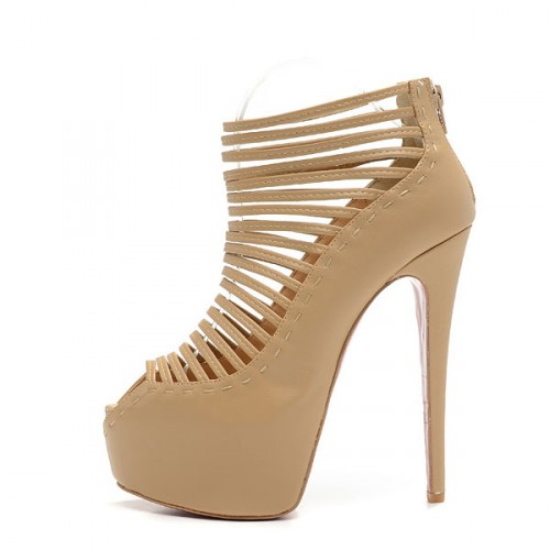 for cheap Christian Louboutin Zoulou strappy sandals 160 mm apricot