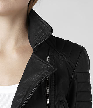 Womens Pitch Leather Biker Jacket (Black) | ALLSAINTS.com