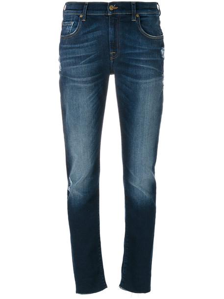 7 For All Mankind jeans boyfriend jeans women spandex boyfriend cotton blue