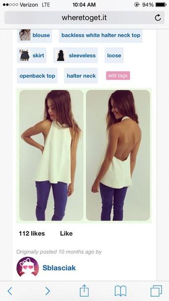 blouse white top