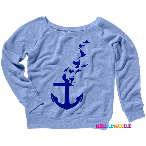 Anchor to birds sweatshirt