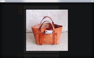 bag brown leather bag brown bag travel bag leather bag light brown bag