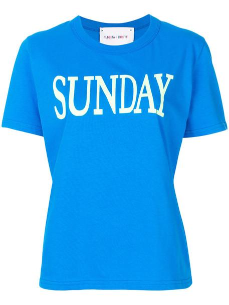 Alberta Ferretti t-shirt shirt t-shirt women cotton blue top