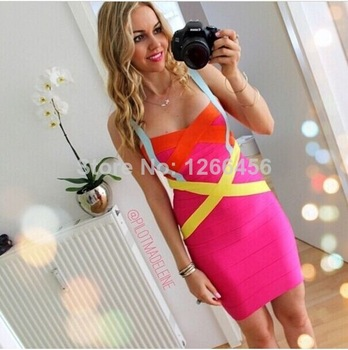 Aliexpress.com : Buy Hot&Sexy Backless Spaghetti Strap 2014 for Fashion Women Summer Party DressYellow/Purple Bandage Dress Vestidos Festa from Reliable dress slacks suppliers on Lady Go Fashion Shop