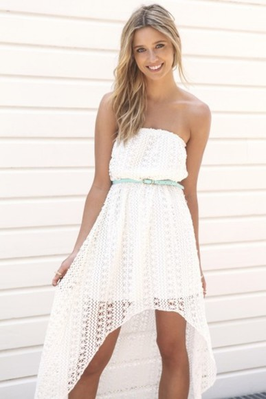 dress bustier dress bustier white lace dress white dress lace sabo skirt crochet crochet dress